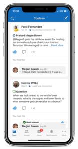 Nowy interfejs aplikacji Yammer