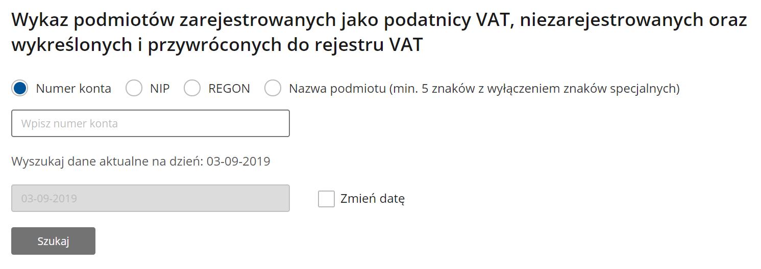 Biała lista podatników VAT to nic innego niż elektroniczny wykaz podmiotów.