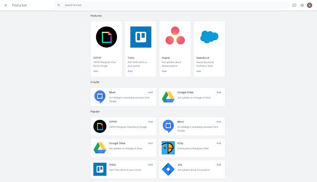 Google ułatwia dodawanie botów w aplikacji Hangouts