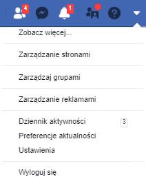 Ustawienia konta Facebook - uwierzytelnienie dwuskładnikowe - wybierz Ustawienia -> Bezpieczeństwo i logowanie.