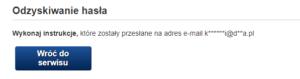 Zmiana hasła do poczty gazeta.pl - wiadomość e-mail