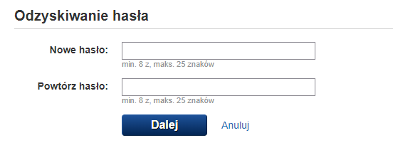 Zmiana hasła do Poczty Gazeta.pl - wprowadź nowe hasło.