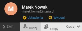 Przejdź do ustawień konta pocztowego w Interia.pl.