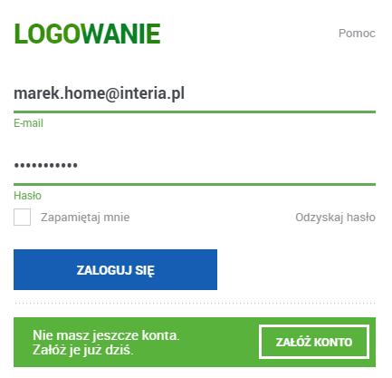 Zaloguj się do konta pocztowego Interia.pl. Kliknij: Odzyskaj hasło.