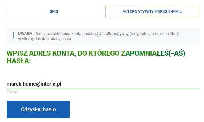 Jakie są dostępne metody zmiany hasła do Poczty w Interia.pl?