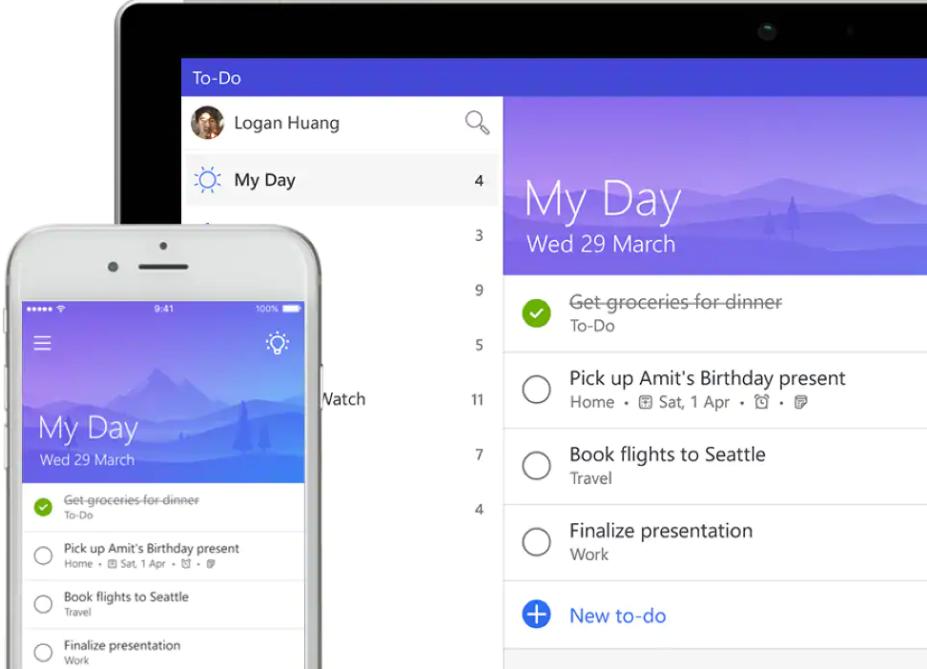 Microsoft To-Do pozwala tworzyć przydatne listy zadań do wykonania w pracy czylistę zakupów.