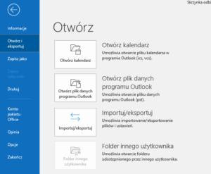 Import kontaktów do Outlooka