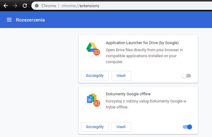 Jak wyłączyć rozszerzenia w Google Chrome?