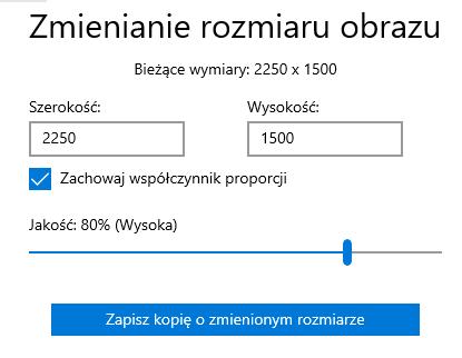 Zmień rozmiar obrazu w aplikacji Zdjęcia Windows