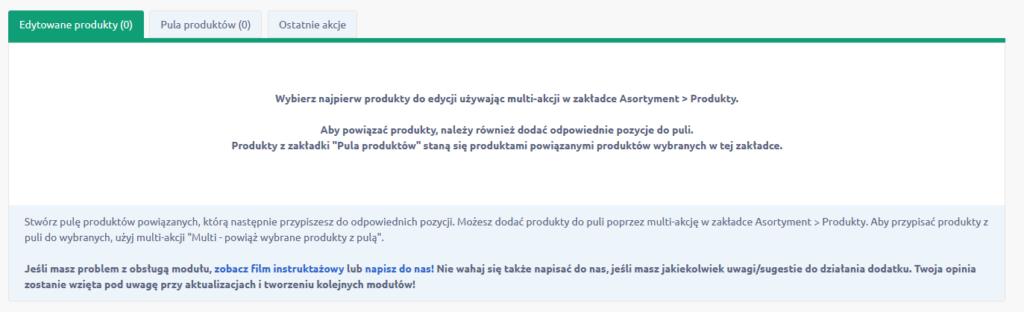 Jak zmienić ustawienia aplikacji: Multi powiązywanie produktów?