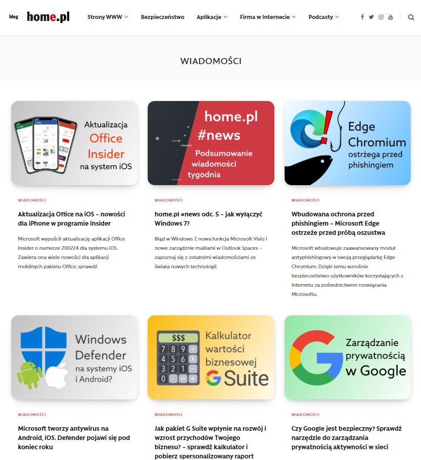 Blog home.pl to źródło wiedzy na temat oprogramowania dla firm oraz aktualności ze świata IT
