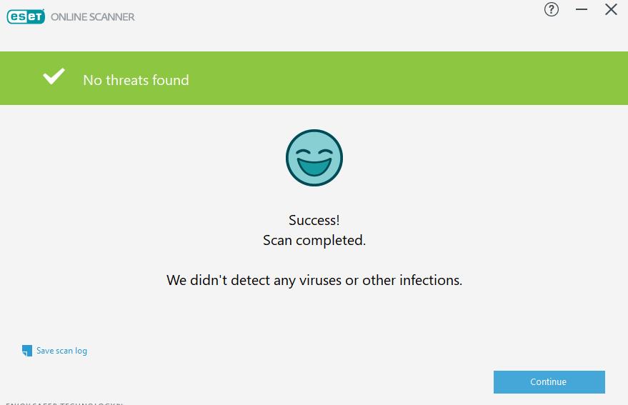 Skanowanie antywirusowe komputera - ESET Antyvirus