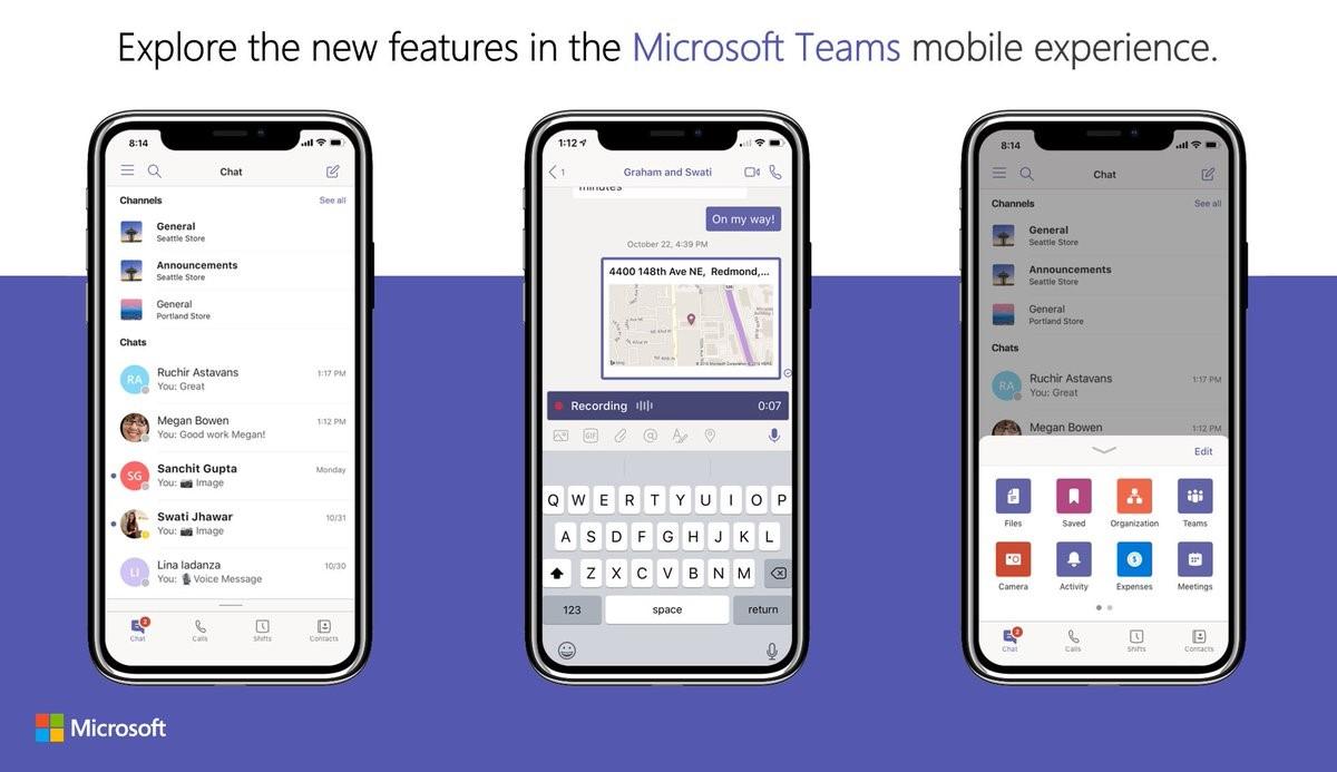 Microsoft Teams na iOS'class=