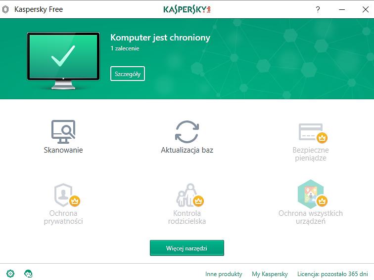 Kaspersky Free – Darmowy program antywirusowy