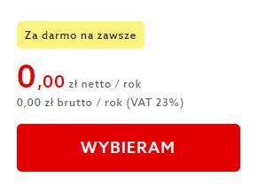 Kliknij przycisk: Wybieram, aby przejść do uruchomienia darmowej Ochrony WWW od home.pl.