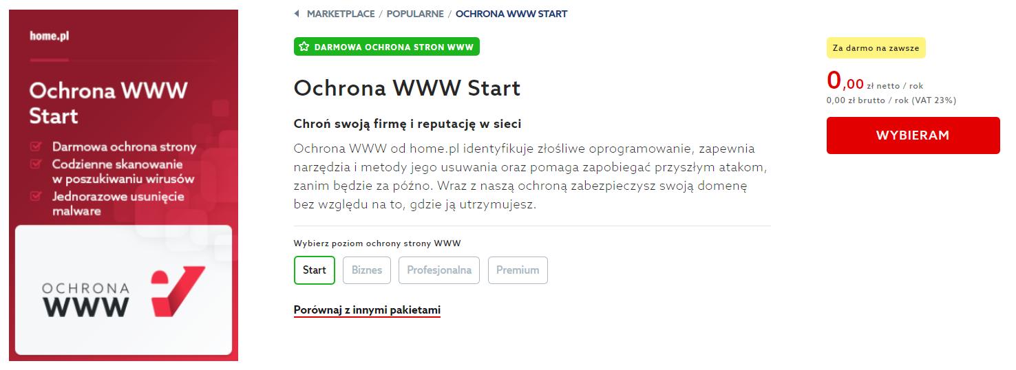 Jak uruchomić bezpłatną Ochronę WWW Start w home.pl?