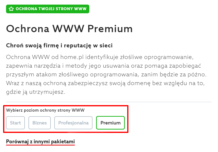 Jak zamówić usługę Ochrona WWW w home.pl?