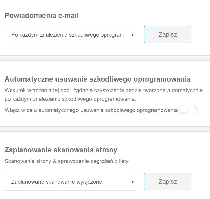 Dodatkowe ustawienia skanera serwera FTP w ramach Ochrony WWW.