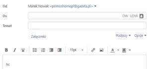Wysyłanie poczty e-mail z poczta gazeta.pl