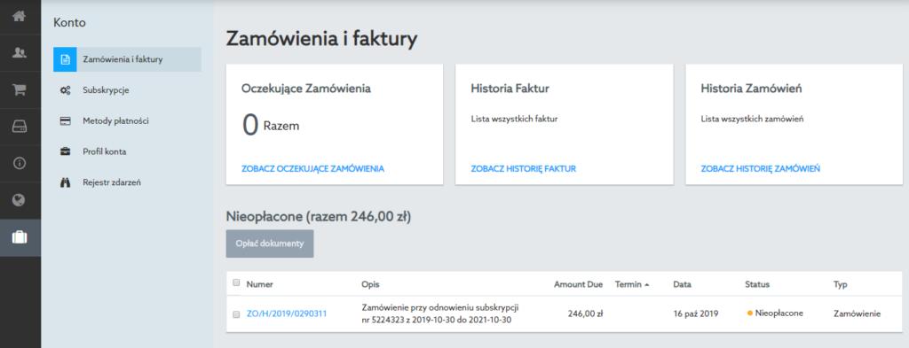 W jaki sposób można anulować nowe zamówienie na usługi w home.pl?