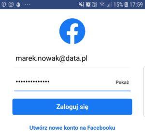 Jak zalogować się do konta Facebook w aplikacji mobilnej?