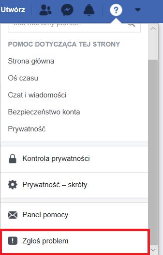 Zgłaszanie problemu na Facebooku. Jak wysłać wiadomość do FB przez formularz kontaktowy?