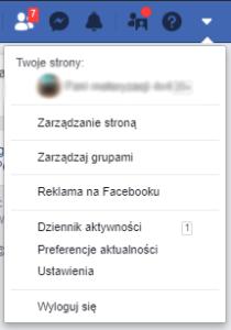 Tworzenie grup w serwisie Facebook - ustawienia konta