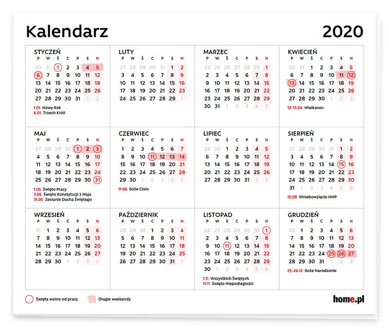 Kiedy wypadają długie weekendy w 2020 roku?