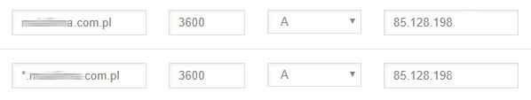 Jak ręcznie zmienić wartość rekordu A w konfiguracja DNS domeny w nazwa.pl?
