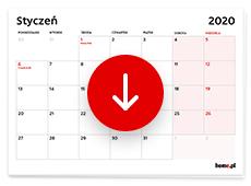 Pobierz i wydrukuj kalendarz na 2020 rok. Dowiedz się kiedy wziąć urlop w 2020 roku.