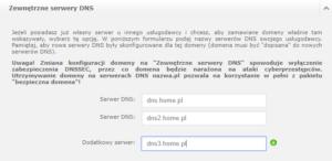 Zewnętrzne serwery DNS