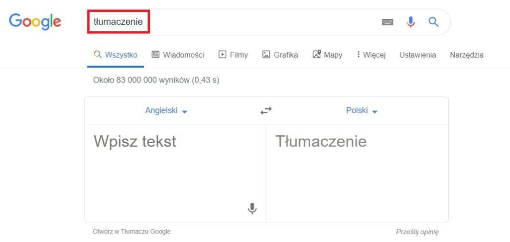 Tłumacz Google - jak go wyszukać w przeglądarce