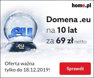 Promocja! Zarejestruj domenę EU na 10 lat za 69 zł netto!