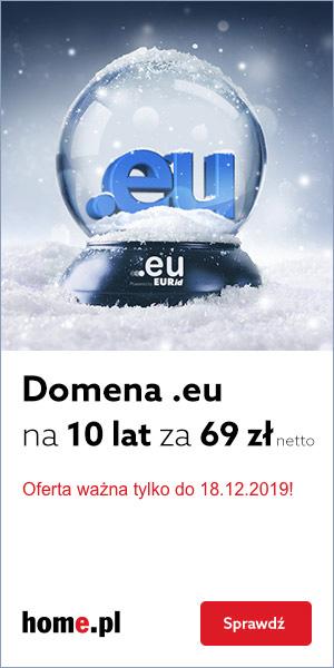 Zarejestruj domenę europejską na 10 lat za 69zł netto!