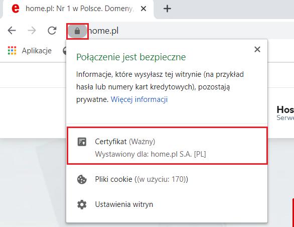 Jak wyświetlić szczegółowe informacje o certyfikacie SSL w Google Chrome?