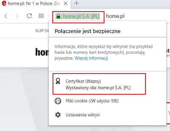 Jak wyświetlić szczegółowe informacje o certyfikacie SSL w przeglądarce Opera?