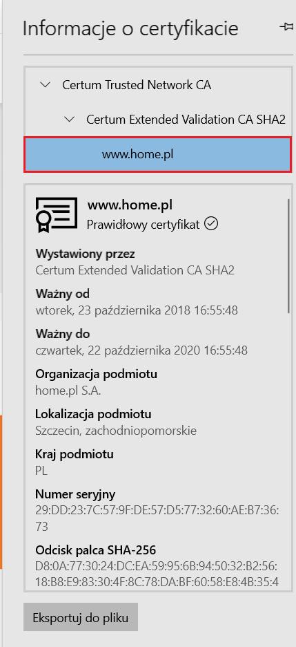 Jak sprawdzić informacje o certyfikacie SSL w przeglądarce Microsoft Edge?