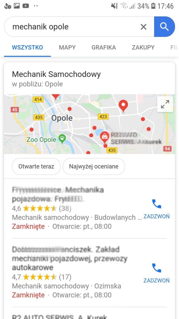 Mapa Google wyznaczanie trasy dojazdu