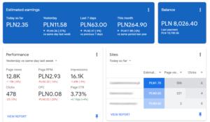Program do zarabiania w sieci reklamowej Google