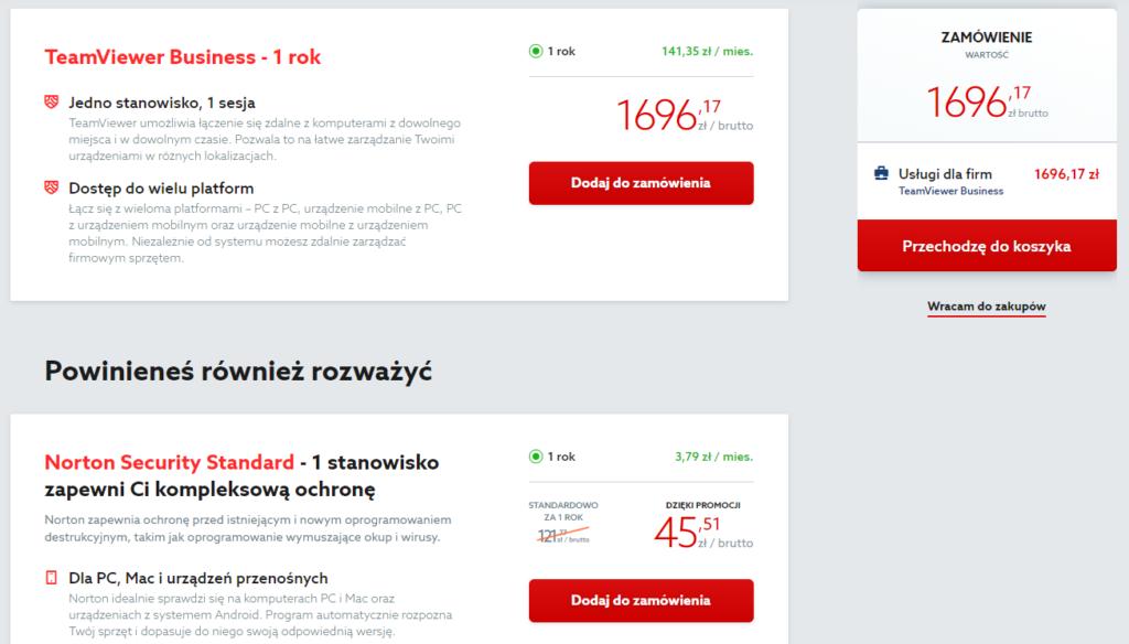 Program TeamViewer Business - zamówienie (zdalne zarządzanie)