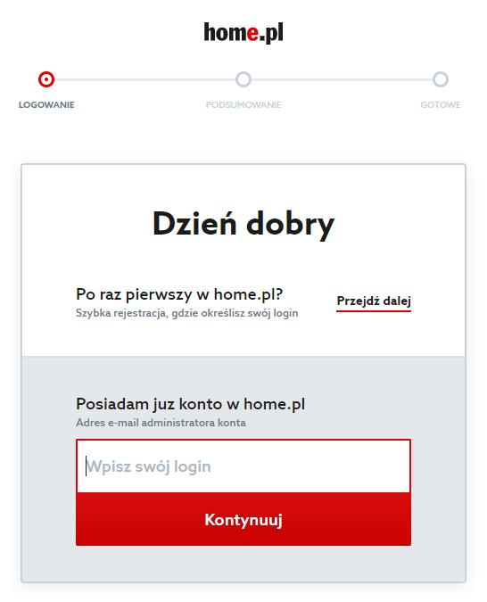 Program Teamviewer - logowanie do Panelu klienta home.pl - zdalne zarządzanie