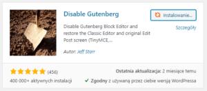 Disable Guteberg - jak wyłączyć edytor Gutenberga w WordPress?