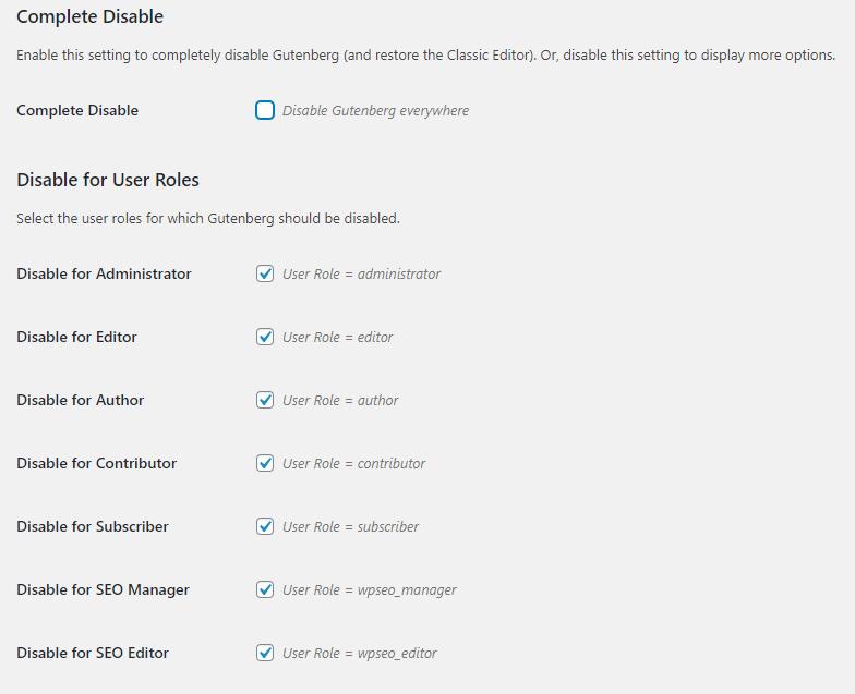 Edytor Gutenberg WordPress - Edycja ustawień wtyczki