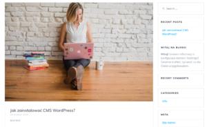 Jak dodać nowy widget na stronie internetowej WordPress?