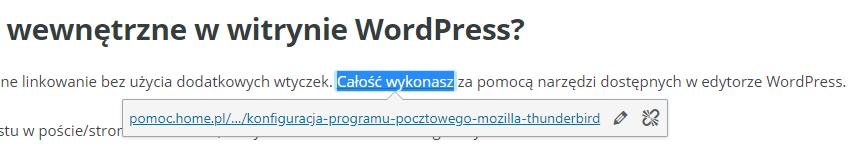 Linkowanie wewnętrzne w CMS WordPress - internal links