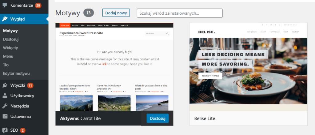 Jak usunąć wtyczki i szablony w CMS WordPress?