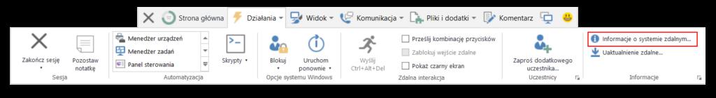 Program TeamViewer - skróty klawiszowe