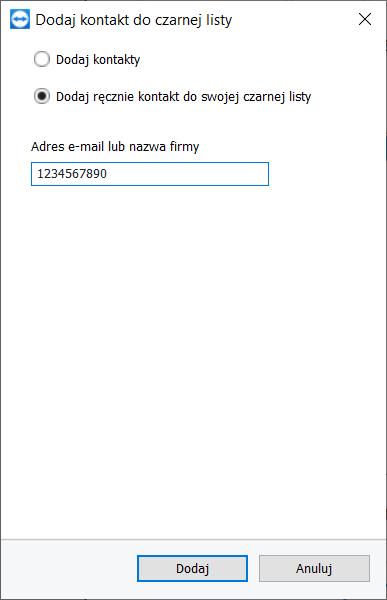 TeamViewer - biała i czarna lista przy zdalnym dostępie.