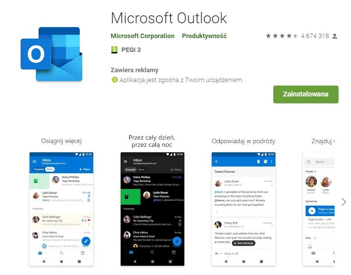 Konfiguracja poczty home.pl w aplikacji Outlook – Android/iOS