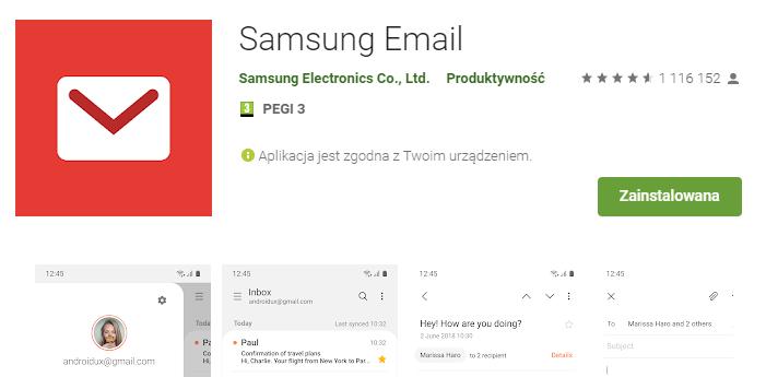 Konfiguracja poczty e-mail w aplikacji Samsung E-mail / Android